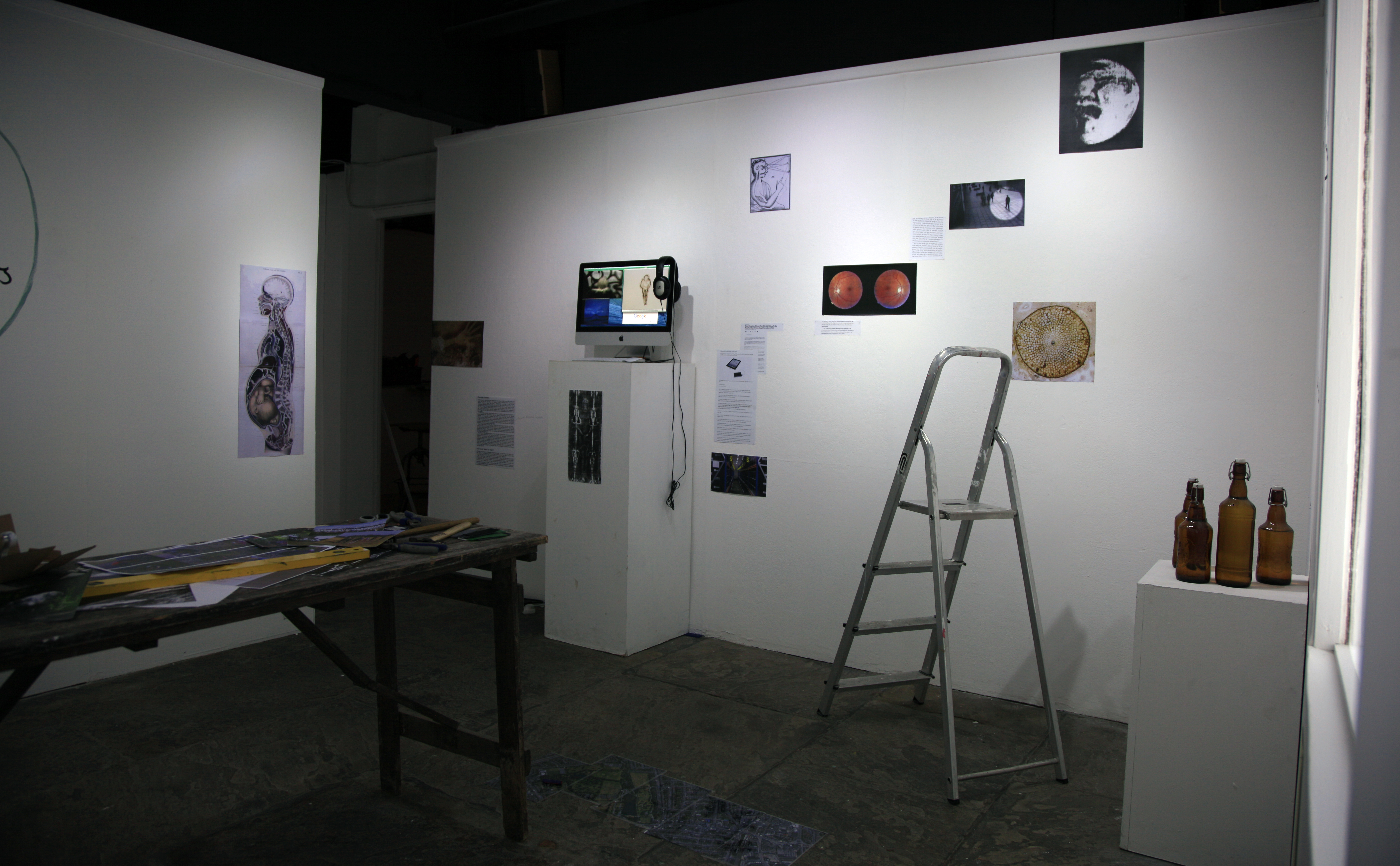 Research installation at Crescent Arts, documentation photograph, 2016